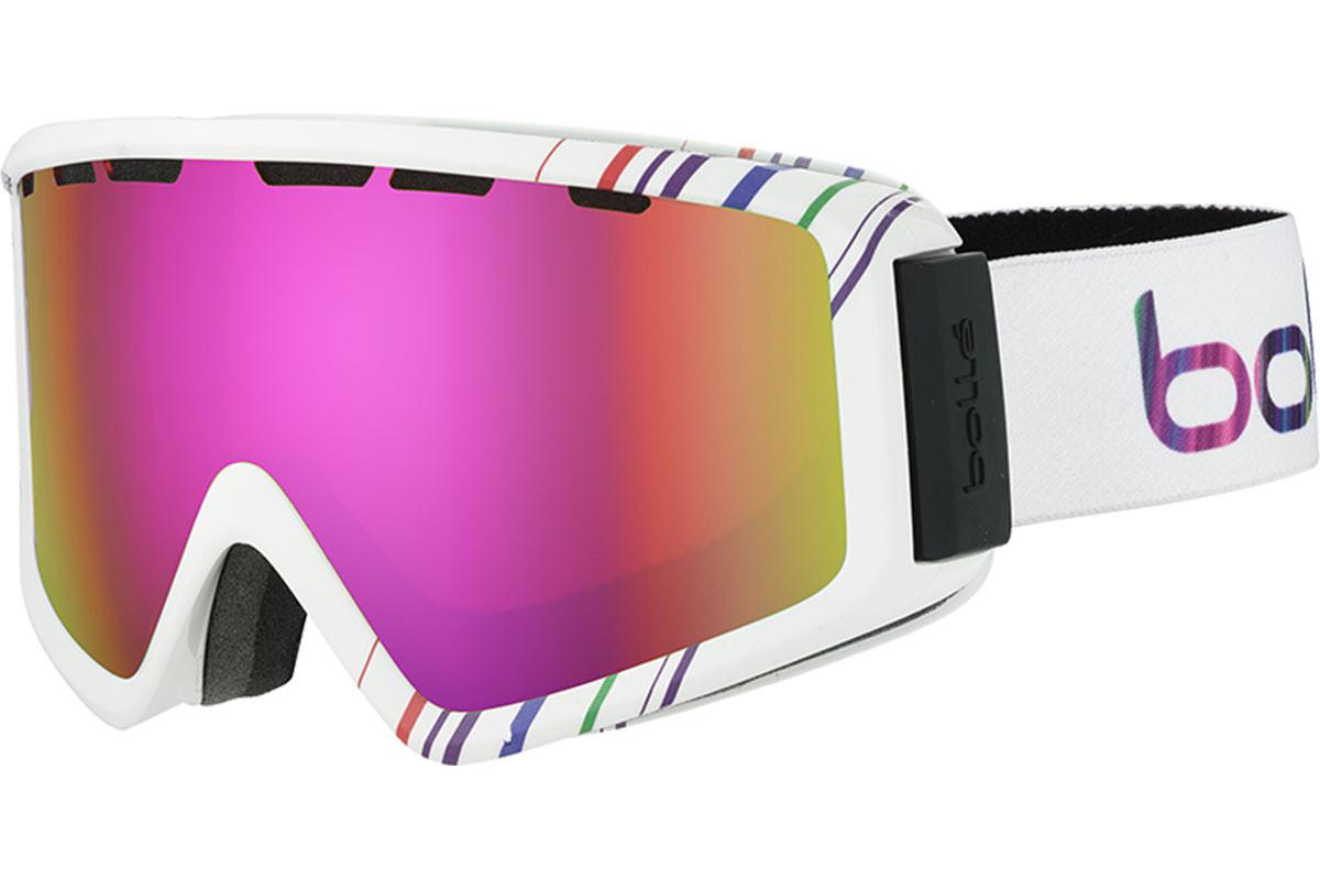 Гірськолижна маска жіноча Bolle Z5 OTG Ski Goggles - Shiny White/Pink Rose Gold