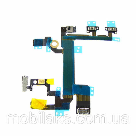 Шлейф для APPLE iPhone 5s на кнопку вкл./выкл., регулировки громкости и микрофоном, фото 2