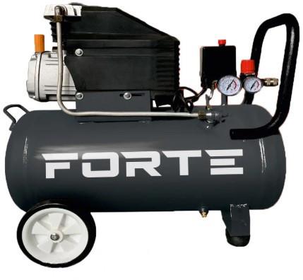 Компрессор воздушный  200 л/мин Forte с ресивером 50 л однопоршневой, для покраски и  пневмоинструмента