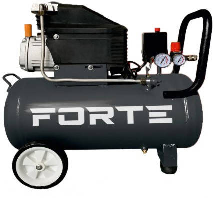 Компрессор воздушный  200 л/мин Forte с ресивером 50 л однопоршневой, для покраски и  пневмоинструмента, фото 2