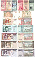 Монголия набор из 9 банкнот 2000-2011 UNC