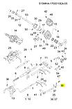Вилка выжимного подшипника чери a13 ЗАЗ Форза, 515mha-1702510, фото 4