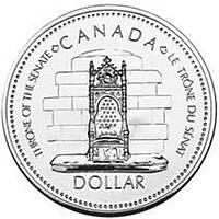 Канада 1 доллар 1977 «Трон сената» Серебро UNC (KM#118)