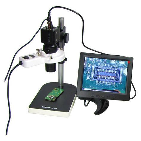"""Видеомикроскоп с монитором 8"""" BAKU BA-003 (подсветка люминесцентная, фокус 30-156 мм, кратность увеличения 200X, 14мП), фото 2"""
