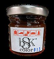 Краска крем для гладкой кожи 50 мл коричневая  bsk-color, фото 1