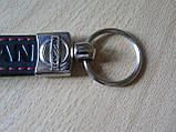 Брелок хлястик Nissan 110мм черный Уценка мазок краски на первой N эмблема Ниссан автомобильный на авто ключи, фото 4