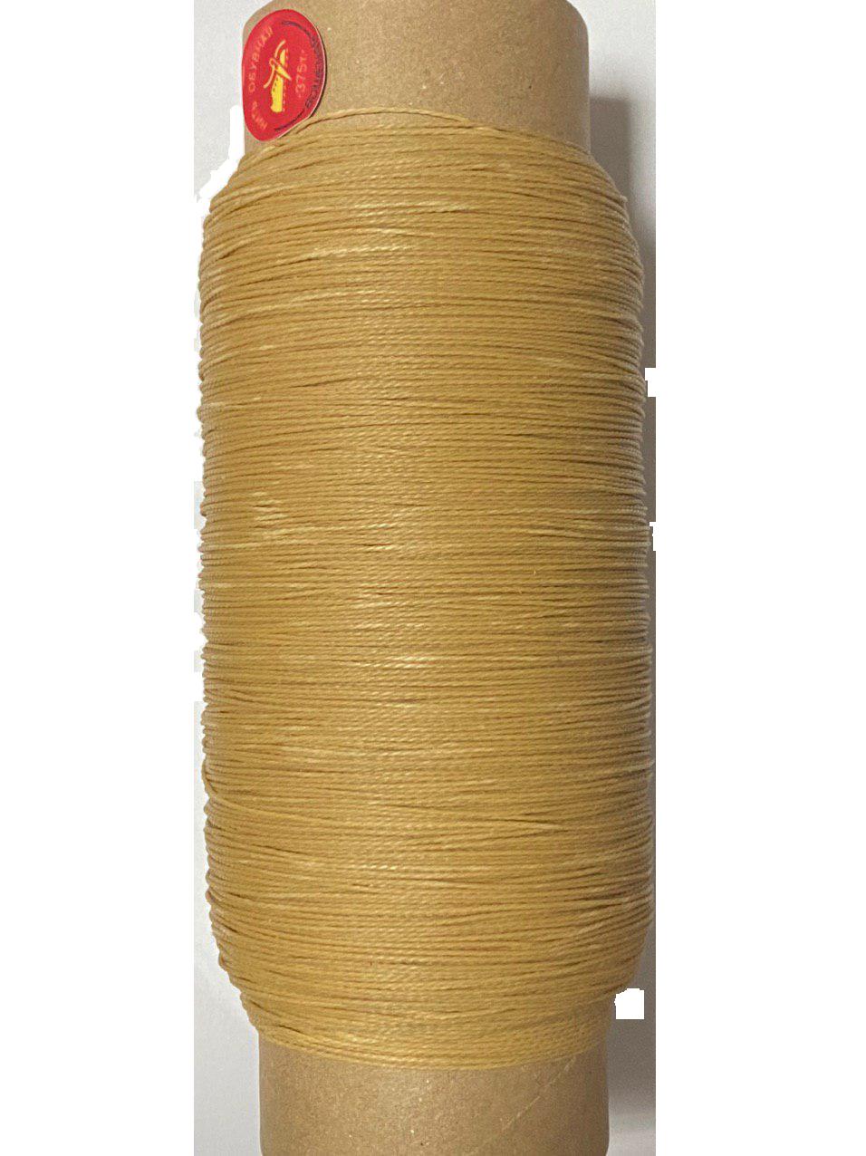 Нить обувная 500 метров светло коричневая вощеная, диаметр нити: 1,0мм