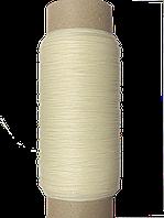 Нить обувная 500 метров  белая вощеная, диаметр нити: 1,0 мм