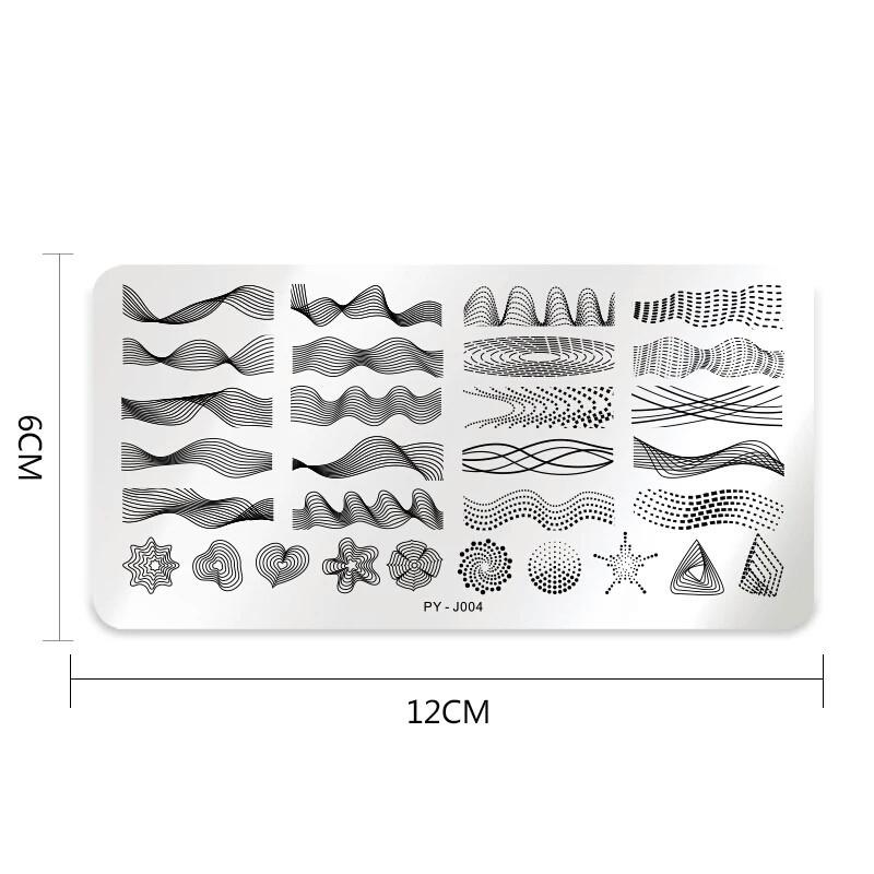 Пластина для стемпинга PY-J004