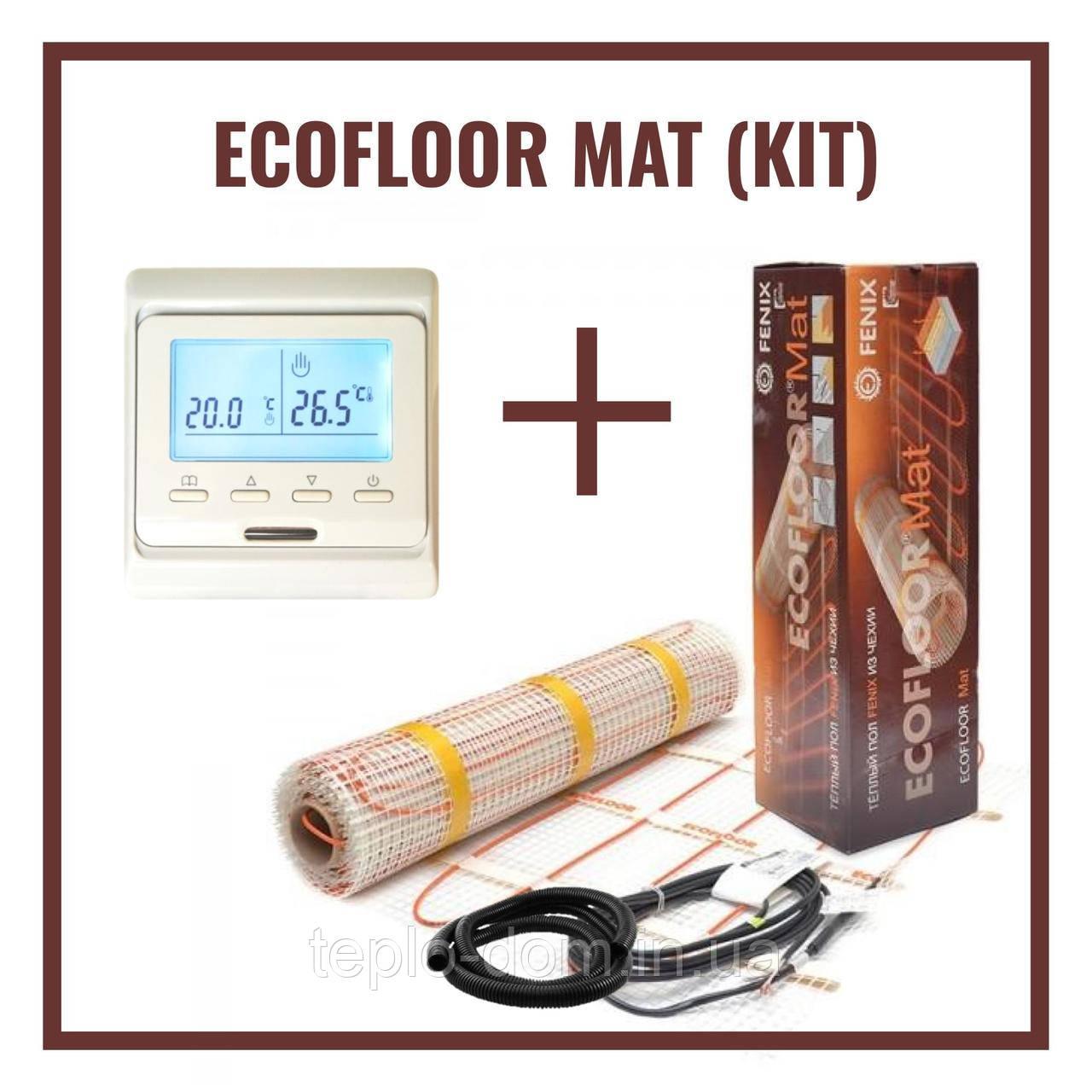 Нагревательный мат Fenix LDTS 12340 ( 2.1 м2) с Программируемым терморегулятором Е-51  (Премиум)
