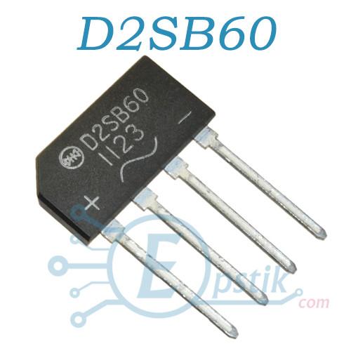 D2SB60, диодный мост, 1.5А, 600В