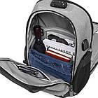Рюкзак для ноутбука  с USB портом серый, фото 8