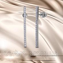 Довгі сережки гвоздики у сріблі Еліз