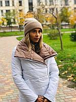 Шапка женская из ангоры с отворотом (К29405), фото 1