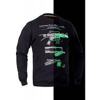 Світшот зимовий P1G-Tac® М16/AR15 Rifle Legend NightGlow Series - Чорний