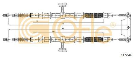 Трос стояночного гальма OPEL VECTRA C (Z02) / OPEL VECTRA C GTS (Z02) 2000-2009 р.