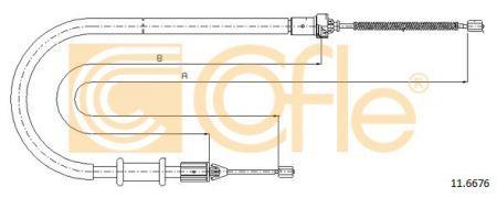 Трос стояночного гальма RENAULT KANGOO Express (FC0/1_) 1997 р.