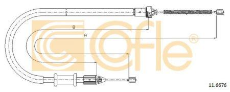 Трос стояночного тормоза RENAULT KANGOO Express (FC0/1_) 1997- г.