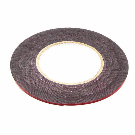 Скотч двусторонний ширина 3мм, толщина 1мм (красный) на полиуретановой основе, фото 2