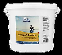 Хлорный препарат для дезинфекции и хлорирования воды в бассейнах Кемохлор Т-65 гранулированный, 25 кг