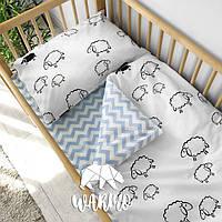 Детское постельное бельё в кроватку Warmo™ ОВЕЧКИ