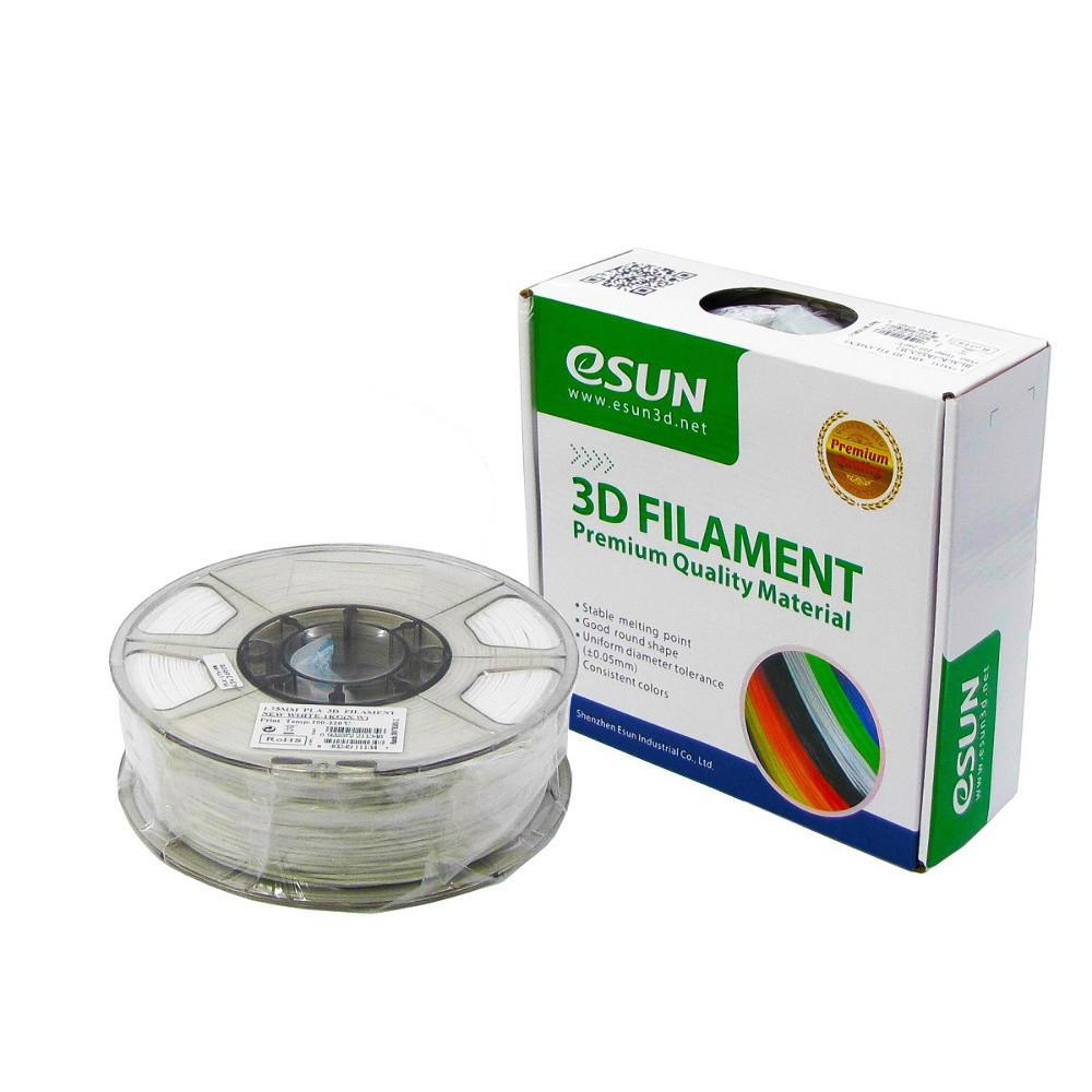 Пластик для 3D печати eSUN PLA, 1.75 мм, 1 кг, белый