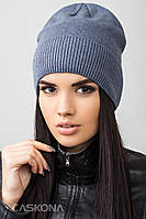 Стильная шапка на флисе Макс, 55-58 см