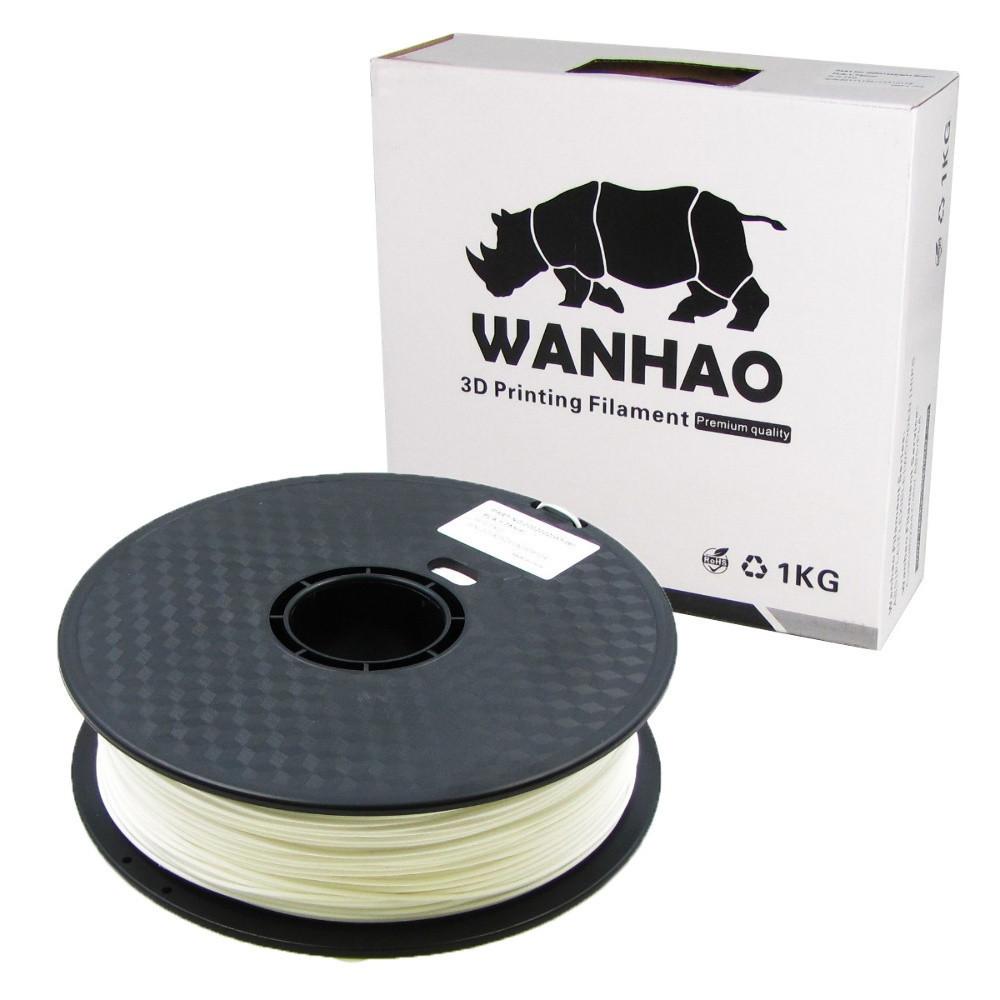 Пластик для 3D печати Wanhao PLA, 1.75 мм, 1 кг, белый