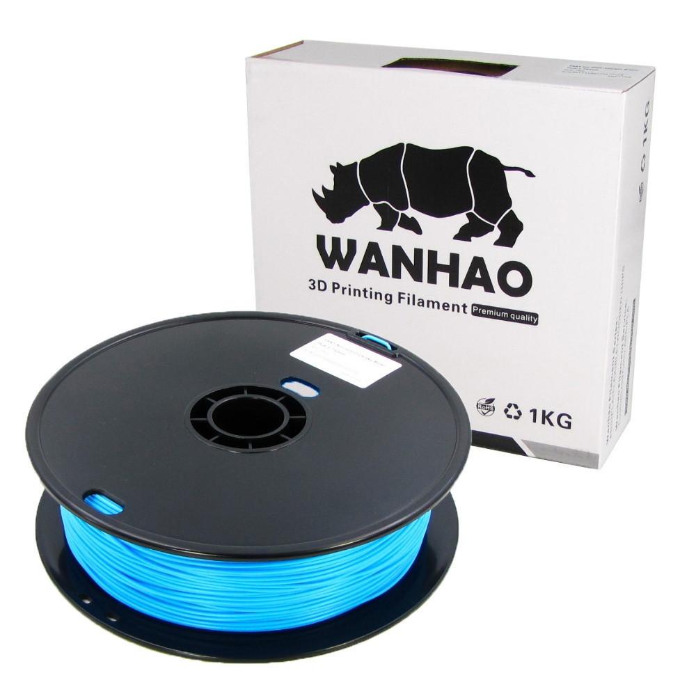 Пластик для 3D печати Wanhao PLA, 1.75 мм, 1 кг, голубой