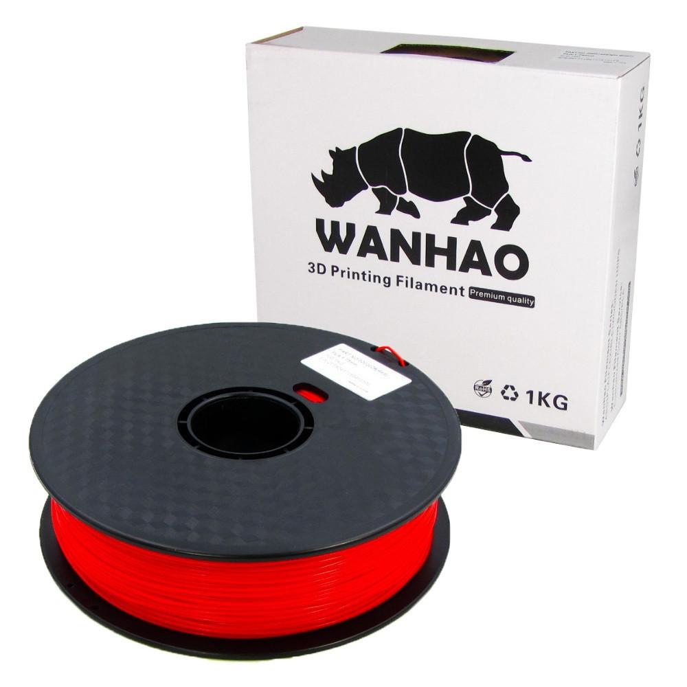 Пластик для 3D печати Wanhao PLA, 1.75 мм, 1 кг, красный