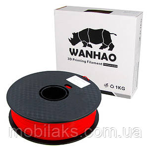 Пластик для 3D печати Wanhao PLA, 1.75 мм, 1 кг, красный, фото 2
