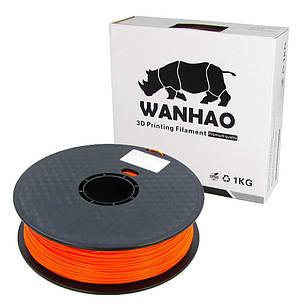 Пластик для 3D печати Wanhao PLA, 1.75 мм, 1 кг, оранжевый, фото 2