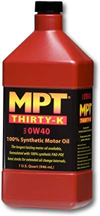MPT ® 0W-40 Thirty-K 100% Full Synthetic Motor Oil