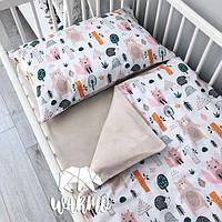 Детское постельное бельё в кроватку Warmo ЛЕС ЧУДЕС