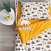 Комплект детского постельного белья Warmo™ СТРОЙКА 1,5-спальный