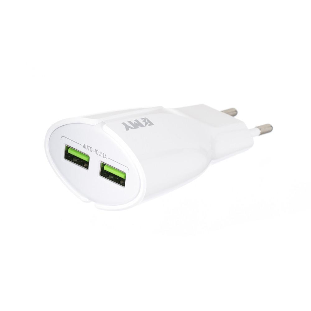 Сетевое зарядное устройство Emy MY-271 Lightning (100191)