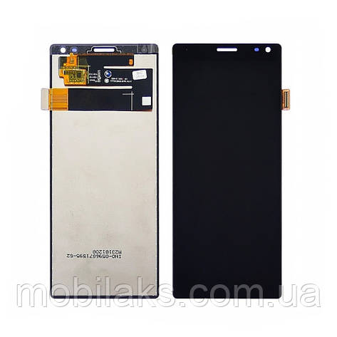 Дисплей для SONY I4113 Xperia 10 с чёрным тачскрином, фото 2