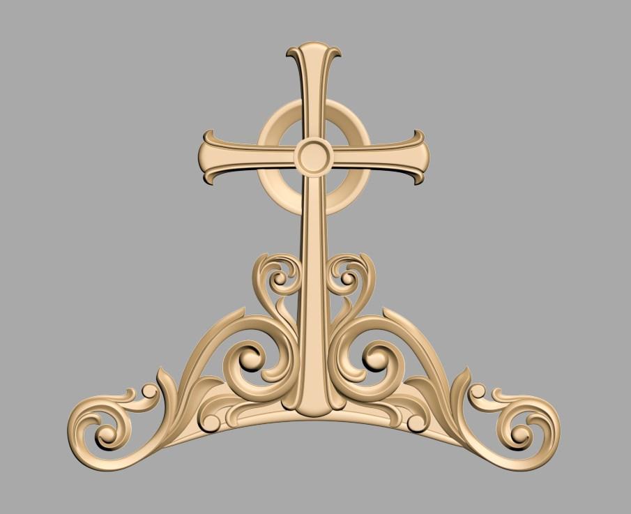 Арка с крестом для иконостаса