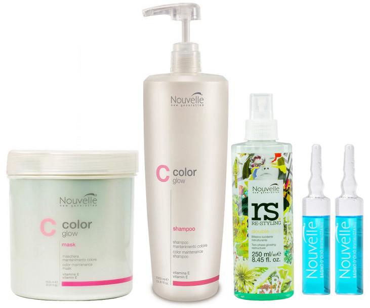 """Набір продуктів Nouvelle """"Догляд для фарбованого волосся"""""""