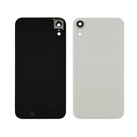 Заднее стекло корпуса для APPLE iPhone XR белое со стеклом камеры high copy, фото 2