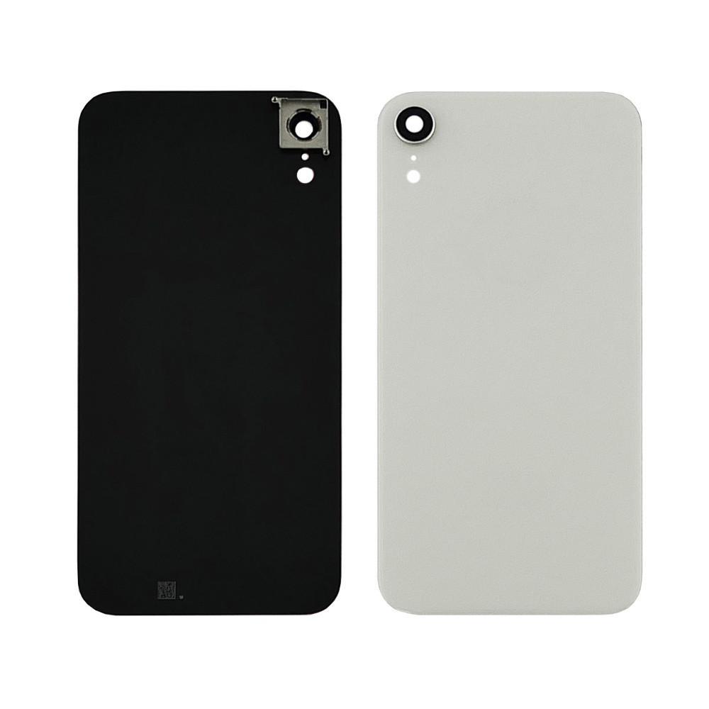 Заднее стекло корпуса для APPLE iPhone XR белое со стеклом камеры high copy