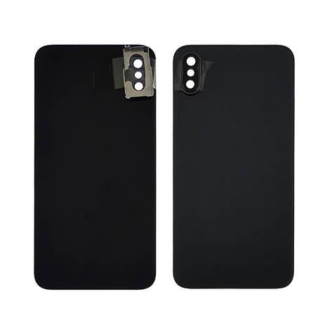 Заднее стекло корпуса для APPLE iPhone X чёрное со стеклом камеры high copy, фото 2