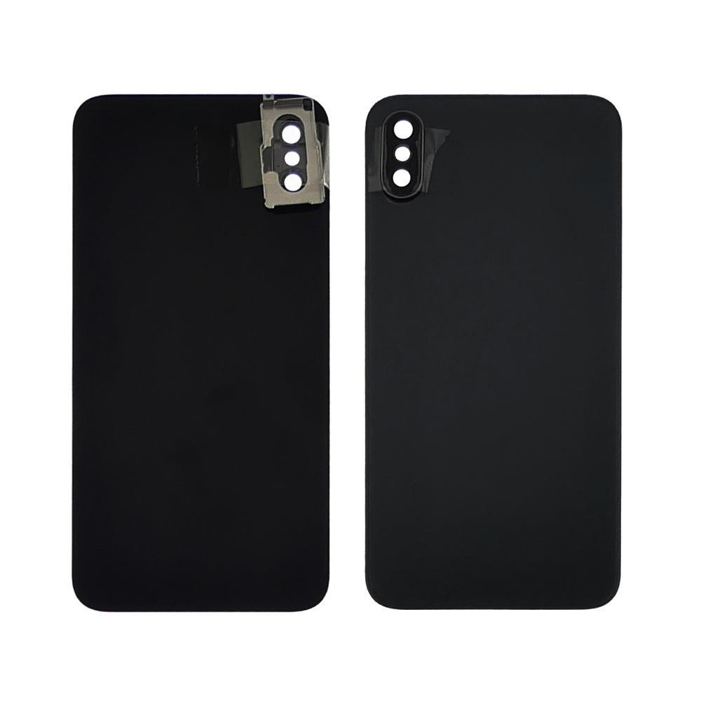 Заднее стекло корпуса для APPLE iPhone X чёрное со стеклом камеры high copy