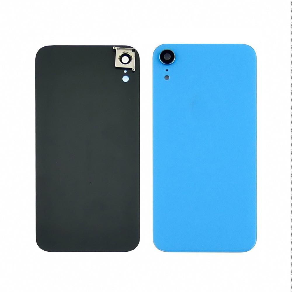Заднее стекло корпуса для APPLE iPhone XR голубое со стеклом камеры high copy