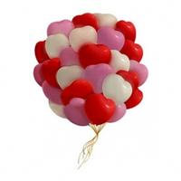 Шарики сердечки для влюбленных - 30 шт.
