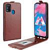 Чехол IETP для Samsung Galaxy M30s 2019 / M307 флип вертикальный кожа PU коричневый