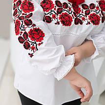 Жіноча сорочка з вишивкою Троянда червона котон, фото 3
