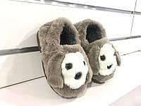 Детские утеплённые  тапочки Собачки
