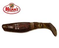 Силиконовая приманка Manns Predator 3 M-066 WARF моторное масло с черно-красной блесткой 90мм