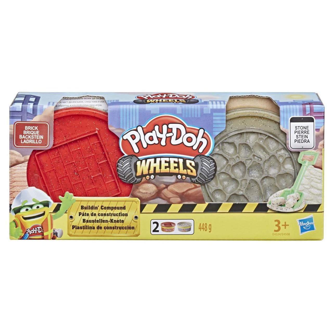 Игровой набор Play-doh Wheels Кирпич и Камень 448 г. Оригинал Hasbro E4524/E4508